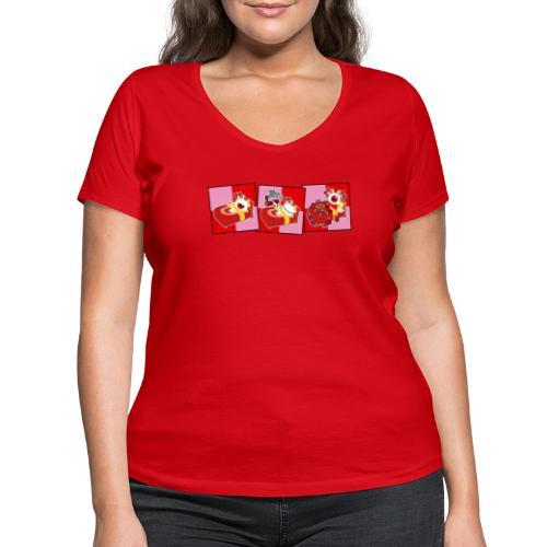 Comic Strip Sleep (Color) - T-shirt bio col V Stanley & Stella Femme