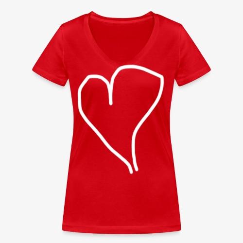 Hjärta - Ekologisk T-shirt med V-ringning dam från Stanley & Stella