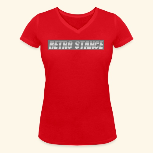 Retro Stance - Women's Organic V-Neck T-Shirt by Stanley & Stella
