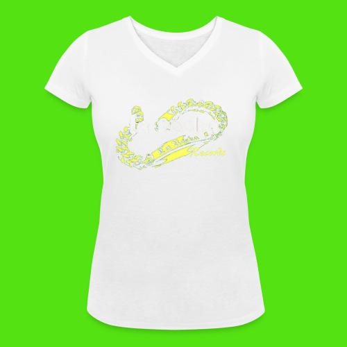 La Rocka - red'n'yellow - Women's Organic V-Neck T-Shirt by Stanley & Stella