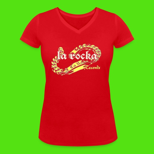 La Rocka - red'n'yellow - Women's Organic V-Neck T-Shirt by Stanley & Stella