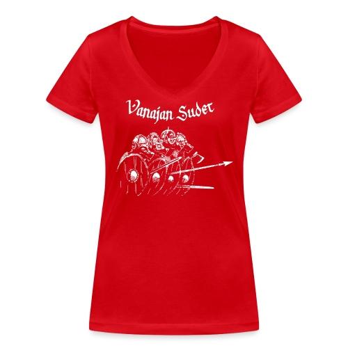 Kilpimuuri B - Stanley & Stellan naisten v-aukkoinen luomu-T-paita
