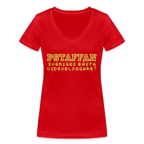 Pstaffan bästa vloggare - Ekologisk T-shirt med V-ringning dam från Stanley & Stella