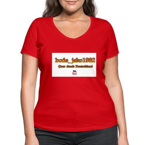 quer durch deutschland - Frauen Bio-T-Shirt mit V-Ausschnitt von Stanley & Stella