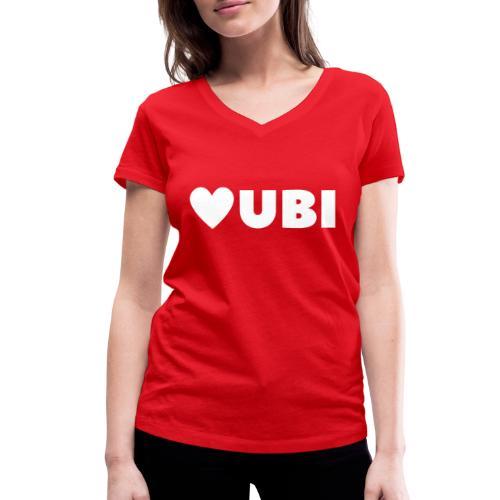 love ubi white trans - Vrouwen bio T-shirt met V-hals van Stanley & Stella
