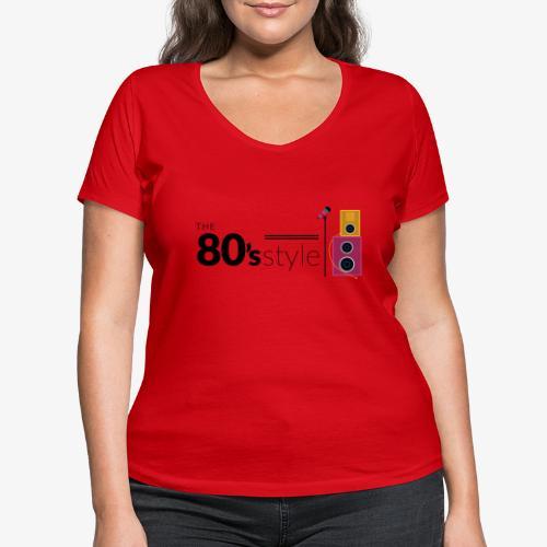 80s - Camiseta ecológica mujer con cuello de pico de Stanley & Stella