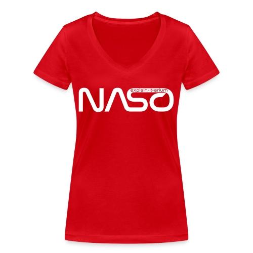 Naso-NASA1 - schwarz - Frauen Bio-T-Shirt mit V-Ausschnitt von Stanley & Stella