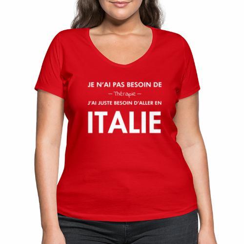 L'Italie est ma thérapie - T-shirt bio col V Stanley & Stella Femme