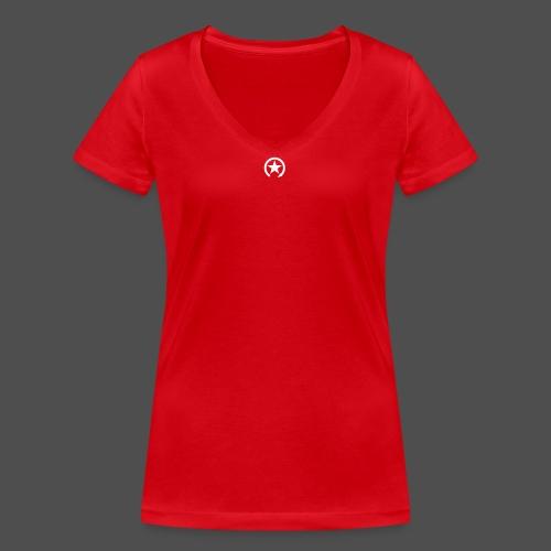 LOGO ZMIANY PRZEŁĄCZNIKA - Ekologiczna koszulka damska z dekoltem w serek Stanley & Stella