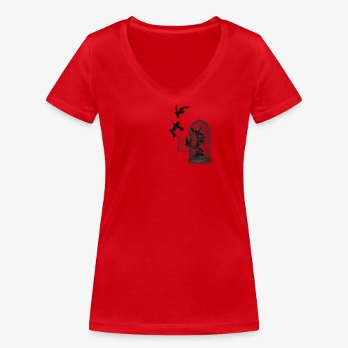 cage - T-shirt bio col V Stanley & Stella Femme