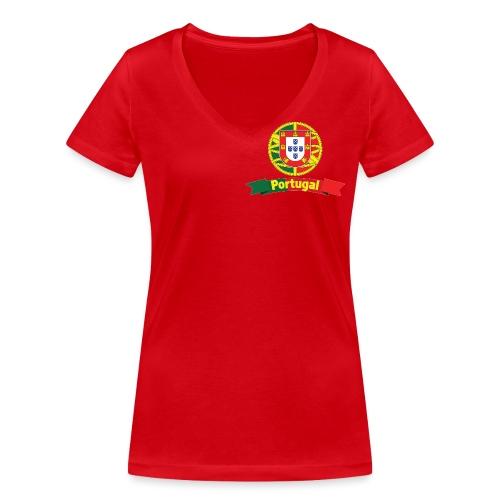 Portugal Campeão Europeu Camisolas de Futebol - Women's Organic V-Neck T-Shirt by Stanley & Stella
