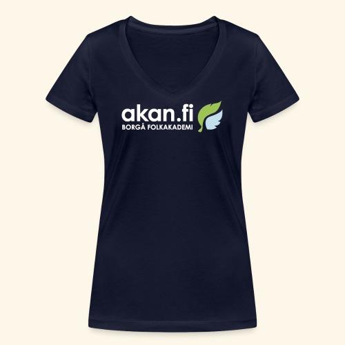 Akan White - Ekologisk T-shirt med V-ringning dam från Stanley & Stella