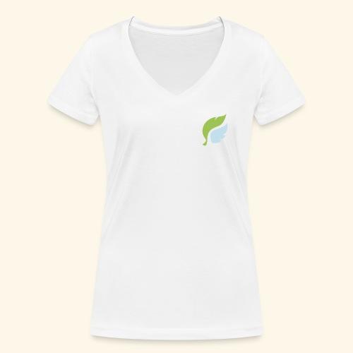 Akan White - Stanley & Stellan naisten v-aukkoinen luomu-T-paita