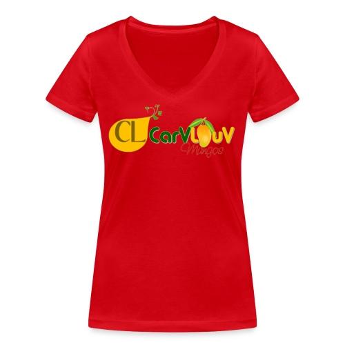 CarVlouV - Camiseta ecológica mujer con cuello de pico de Stanley & Stella