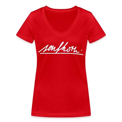 #senfi - Frauen Bio-T-Shirt mit V-Ausschnitt von Stanley & Stella