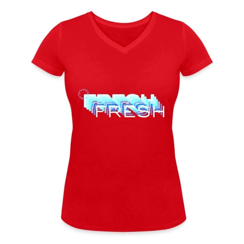 Fresh with a French Touch - T-shirt bio col V Stanley & Stella Femme