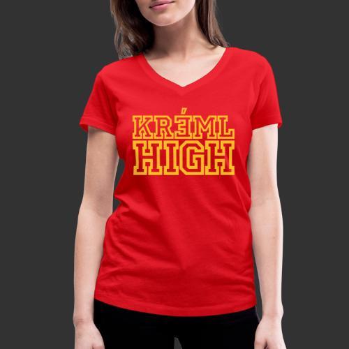 Kreml High - Ekologisk T-shirt med V-ringning dam från Stanley & Stella