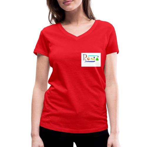 Roma1 - T-shirt ecologica da donna con scollo a V di Stanley & Stella