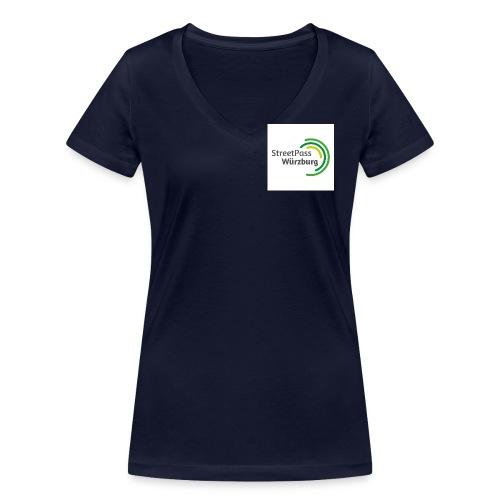 Streetpass Würzburg - Frauen Bio-T-Shirt mit V-Ausschnitt von Stanley & Stella