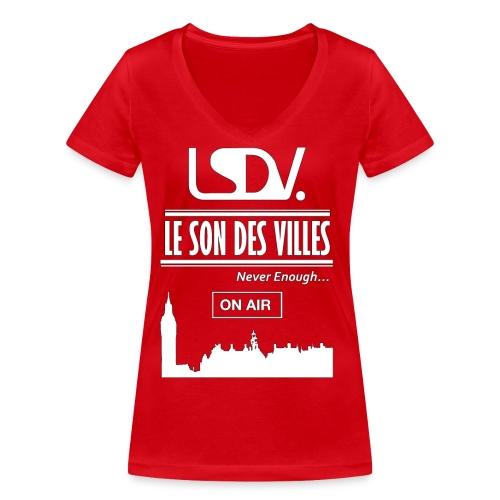 Lesondesvilles _On air LSDV - T-shirt bio col V Stanley & Stella Femme