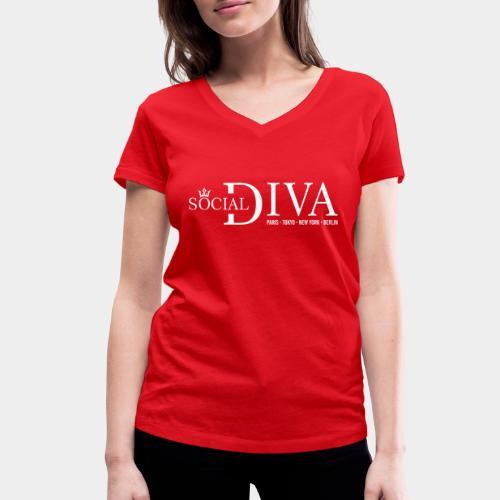 mode diva sociale - T-shirt bio col V Stanley & Stella Femme