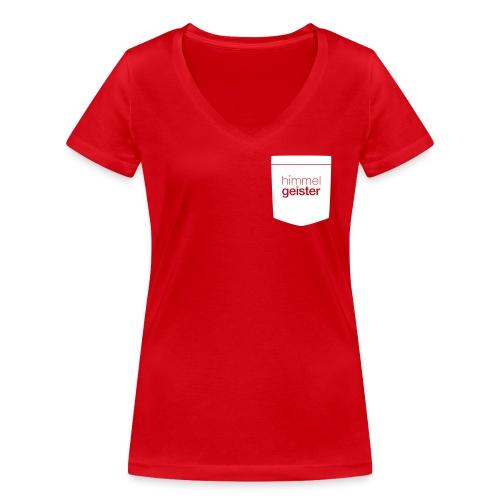 HGLogo Tasche Schwarz - Frauen Bio-T-Shirt mit V-Ausschnitt von Stanley & Stella