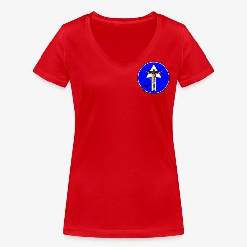 Gesù - T-shirt ecologica da donna con scollo a V di Stanley & Stella