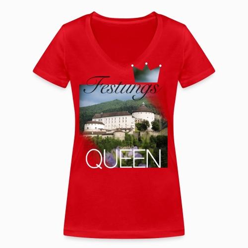 Festungsqueen - Naturfotodesign by Yasmin Embacher - Frauen Bio-T-Shirt mit V-Ausschnitt von Stanley & Stella