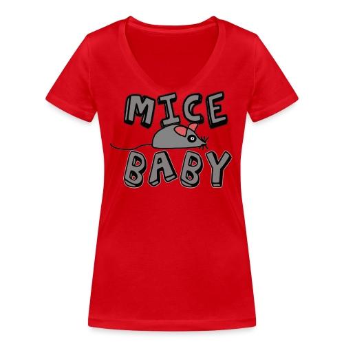 mice mice baby - ice ice baby - Frauen Bio-T-Shirt mit V-Ausschnitt von Stanley & Stella