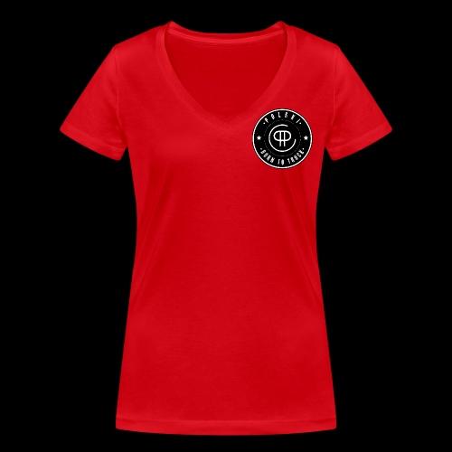Born to TRUUUCK - Ekologisk T-shirt med V-ringning dam från Stanley & Stella