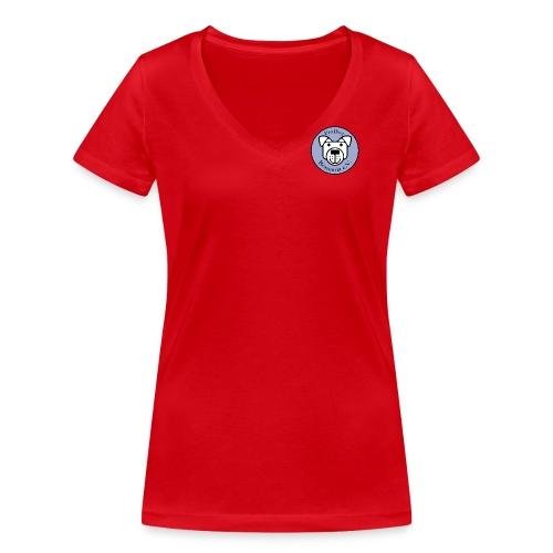 logointerlaced png - Frauen Bio-T-Shirt mit V-Ausschnitt von Stanley & Stella