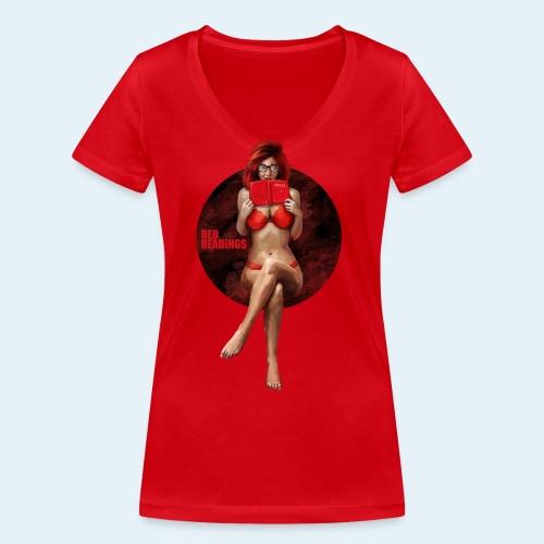 Red Readings - Camiseta ecológica mujer con cuello de pico de Stanley & Stella