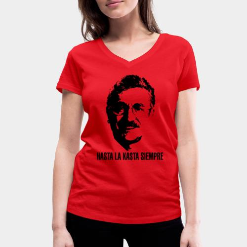 HASTA LA KASTA - T-shirt ecologica da donna con scollo a V di Stanley & Stella