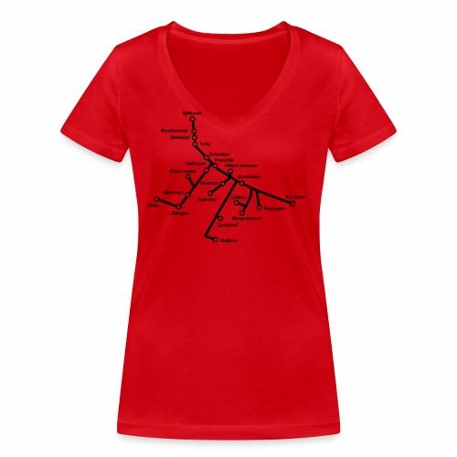 Lisch Tisch Hoods - Ekologisk T-shirt med V-ringning dam från Stanley & Stella