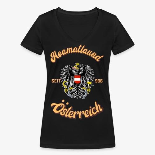 Österreich hoamatlaund retro desígn - Frauen Bio-T-Shirt mit V-Ausschnitt von Stanley & Stella