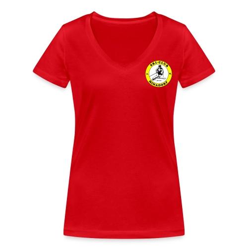 logo minadorf - Frauen Bio-T-Shirt mit V-Ausschnitt von Stanley & Stella
