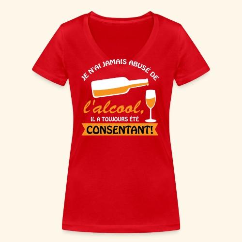 alcool - T-shirt bio col V Stanley & Stella Femme
