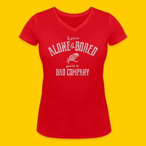 Alone and bored - Ekologisk T-shirt med V-ringning dam från Stanley & Stella