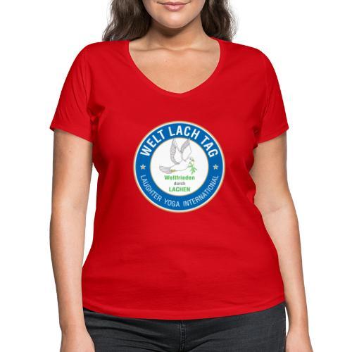 Wlt Logo png - Frauen Bio-T-Shirt mit V-Ausschnitt von Stanley & Stella