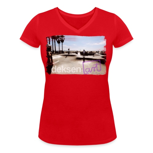 Los Angeles Part 2 - Women's Organic V-Neck T-Shirt by Stanley & Stella