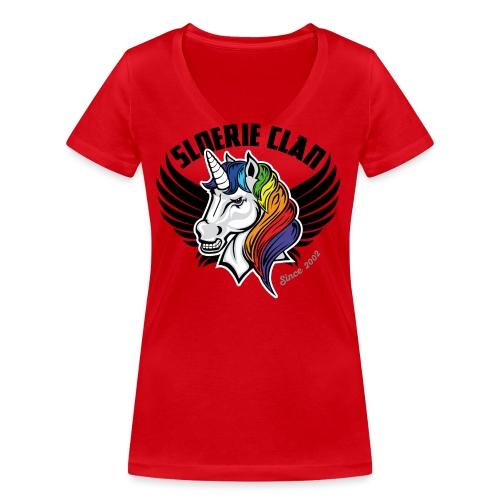 SLR Clan Logo 2018 Clean - Women's Organic V-Neck T-Shirt by Stanley & Stella
