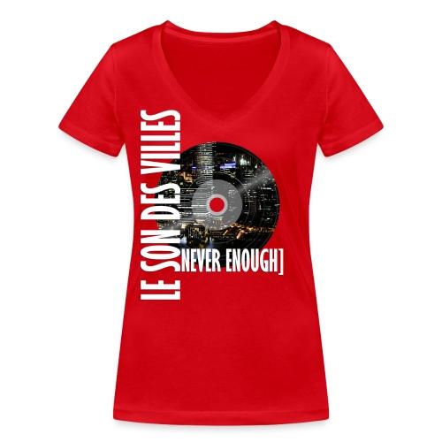 Le Son Des Villes : World Vinyl - T-shirt bio col V Stanley & Stella Femme