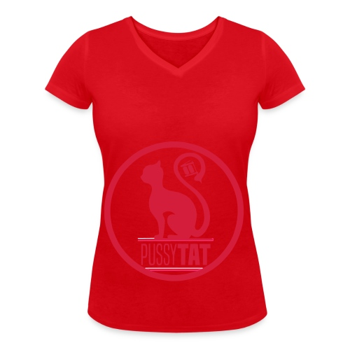 PussyV001 - Frauen Bio-T-Shirt mit V-Ausschnitt von Stanley & Stella