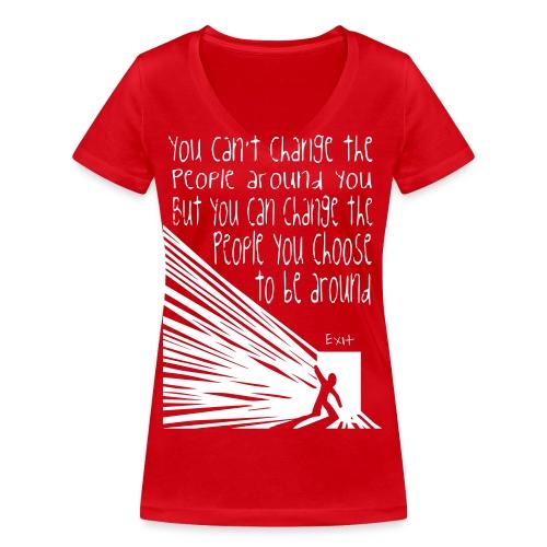CHOOSE EXIT - Ekologisk T-shirt med V-ringning dam från Stanley & Stella