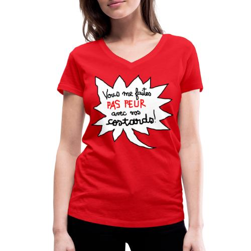 paspeur - T-shirt bio col V Stanley & Stella Femme