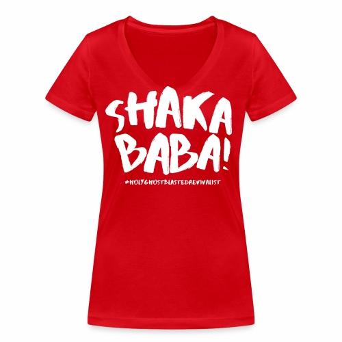 shaka - Stanley & Stellan naisten v-aukkoinen luomu-T-paita