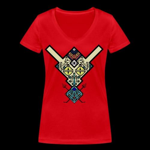 Alien - Frauen Bio-T-Shirt mit V-Ausschnitt von Stanley & Stella