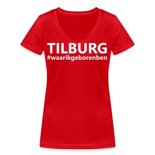 #waarikgeborenben - Vrouwen bio T-shirt met V-hals van Stanley & Stella