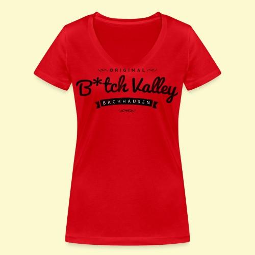bitch valley schwarz - Frauen Bio-T-Shirt mit V-Ausschnitt von Stanley & Stella