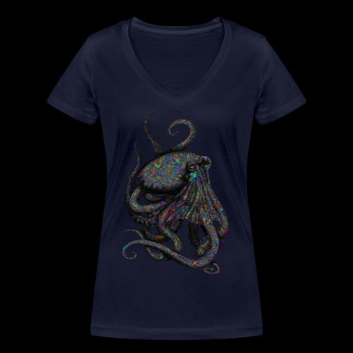 Oktopus Goa - Frauen Bio-T-Shirt mit V-Ausschnitt von Stanley & Stella